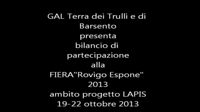 """GAL Terra dei Trulli e di Barsento-Fiera """"Rovigo Espone"""" 2013"""